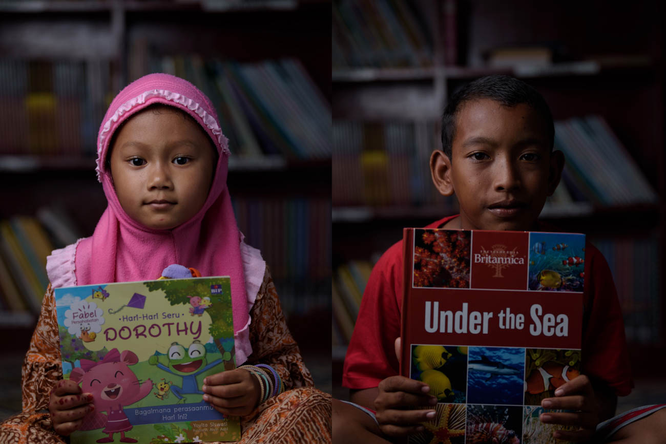 Aceh, kids, and books